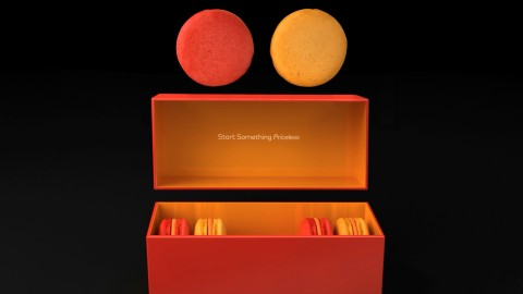 Mastercard introduces the first Taste of Priceless - two original macaron flavors, Passion and Optimism (Photo: Business Wire)