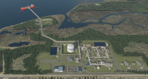 Rendering of Eagle LNG's Jacksonville LNG Export Facility (Photo: Business Wire)
