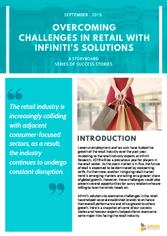 Overcoming retail industry challenges with Infiniti's solutions: A rundown of our engagements for clients in the retail sector.