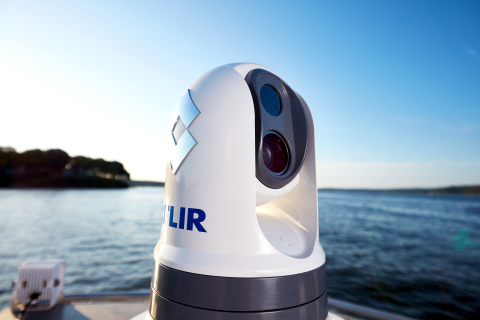 FLIR M300 Series thermal imaging cameras for professional mariners and first responders provide safer navigation and increased situational awareness (Photo: Business Wire)