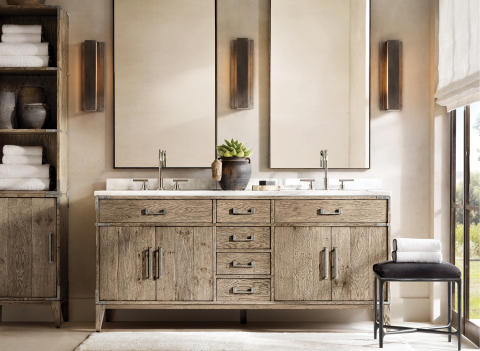RH INTERIORS 2019 INTRODUCES THE CAYDEN CAMPAIGN BATH COLLECTION BY THE VAN THIELS (Photo: Business Wire)