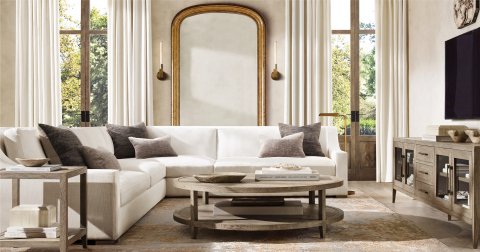 RH INTERIORS 2019 INTRODUCES THE PARISIAN CLASSIC SLOPE ARM SECTIONAL (Photo: Business Wire)