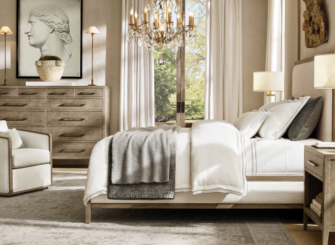 RH INTERIORS 2019 INTRODUCES THE FRENCH CONTEMPORARY BED COLLECTION BY THE VAN THIELS (Photo: Business Wire)