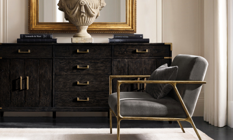 RH INTERIORS 2019 INTRODUCES THE CAYDEN CAMPAIGN SIDEBOARD (Photo: Business Wire)