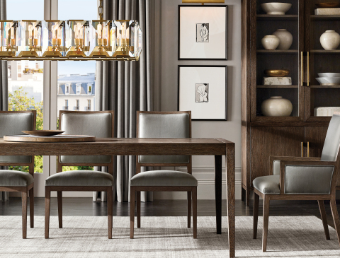 RH INTERIORS 2019 INTRODUCES THE FRENCH CONTEMPORARY DINING COLLECTION BY THE VAN THIELS (Photo: Business Wire)