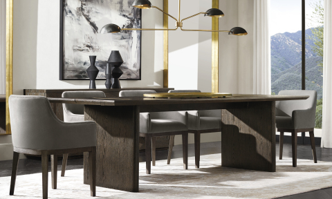RH MODERN 2019 INTRODUCES THE BALMAIN OAK DINING TABLE (Photo: Business Wire)