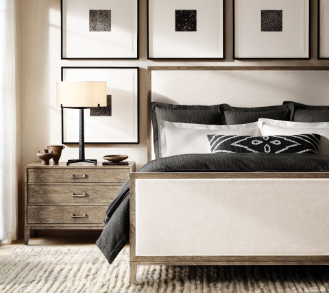 RH INTERIORS 2019 INTRODUCES THE CAYDEN CAMPAIGN BED COLLECTION BY THE VAN THIELS (Photo: Business Wire)