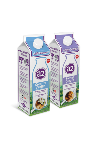 The a2 Milk Company introduces a2 Milk® Coffee Creamers in Sweet Cream and Creamy Vanilla (Photo: Business Wire)