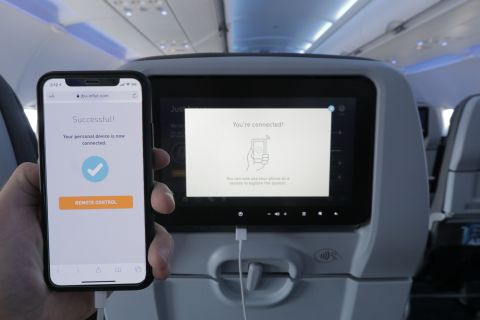 With 100+ channels of DIRECTV®, hundreds of movies, full seasons of binge-worthy TV shows, and custom seatback games, JetBlue customers onboard the A321neo will never be bored. Plus, travelers can follow their flight on a new 3D moving map and pair a personal device with the seatbacks to use as a remote. (Photo: Business Wire)
