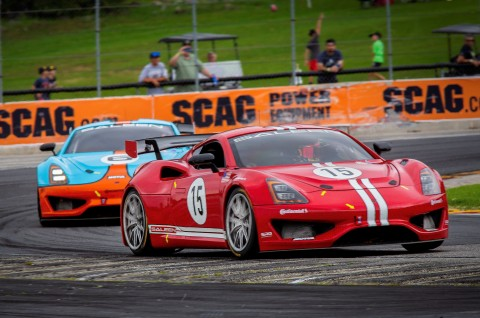 Mathew Keegan of Ladera Ranch, Calif., leads the third round of the 2019 Saleen Cup racing series, at Road America in Elkhart Lake, Wisconsin, on Saturday, September 21. (Photo: Business Wire)