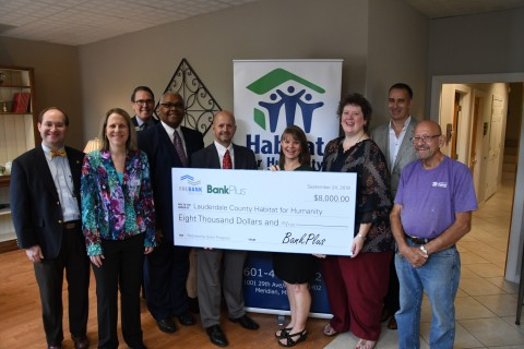 BankPlus and FHLB Dallas awarded $8,000 in Partnership Grant Program funds to Lauderdale County Habitat for Humanity at a check presentation today. (Photo: Business Wire)