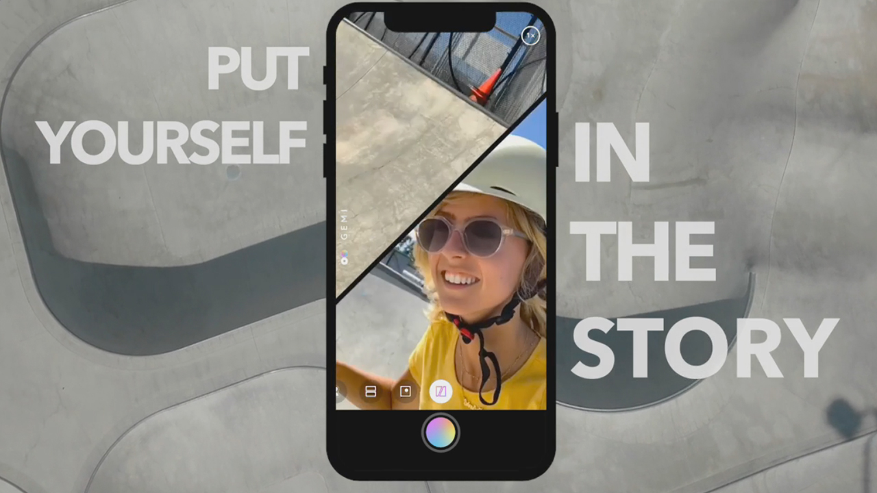 GEMI enables video recording with front and back cameras simultaneously. Whether you are with a group of friends, your loved ones or exploring the world on your own, GEMI is the perfect capturing tool for your video storytelling.