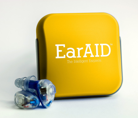 EarAID is an intelligent earpiece that uses a patented electronic circuitry to instantaneously identify damaging sounds, isolate them, and compress them to safer levels, while allowing normal sounds to pass through naturally, as if nothing is in your ears. These earpieces are quite small, fit discreetly into the ear canal, are powered by a tiny hearing-aid battery, and can be turned on and off. EarAID comes with 6 different types of eartips to fit any ear canal, an optional lanyard, and a storage case. For more information, contact Forward Science at 855-696-7254 or visit www.forwardscience.com. (Photo: Business Wire)