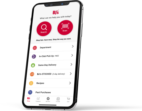 BJ's app homescreen (Photo: Business Wire)