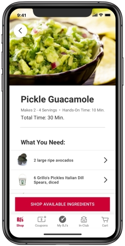 BJ's app - shoppable recipes (Photo: Business Wire)
