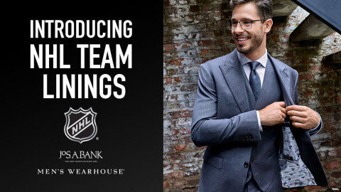 NHL fans can now customize their suits and sport coats with linings from their favorite NHL team. Visit any Men's Wearhouse or Jos. A. Bank store location. (Photo: Business Wire)