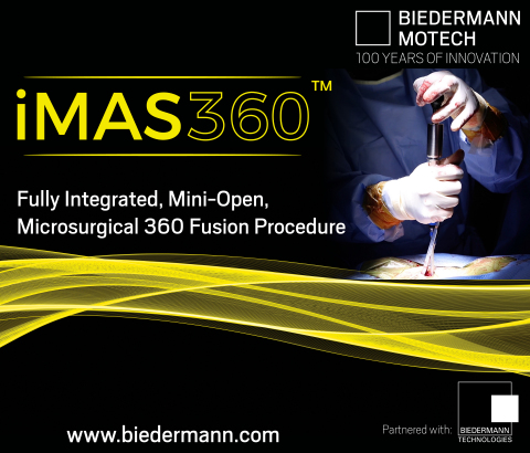 Biedermann Motech To Further Expand Its iMAS360™ Procedural Solution And To Launch MOSS VRS® - The Next Generation Pedicle Screw Technology™ To The US Market (Photo: Business Wire)