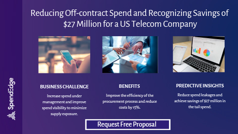 Reducing Off-contract Spend and Recognizing Savings of $27 Million for a US Telecom Company.