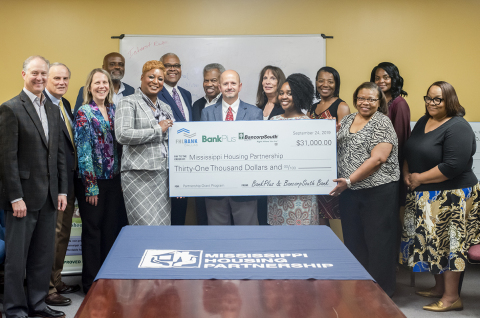 BancorpSouth Bank, BankPlus and FHLB Dallas awarded $31K in partnership grant funds to Mississippi Housing Partnership, which serves low- and moderate-income families in Mississippi. (Photo: Business Wire)