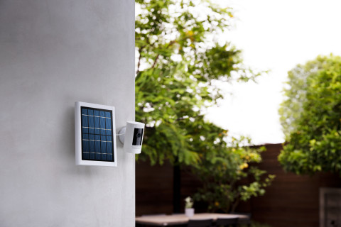 The third-generation Ring Stick Up Cam is also available for pre-order; the Solar power option will retail for $148.99. (Photo: Business Wire)