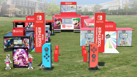 To introduce the newest generation of college students to the newest generation of Nintendo games like Super Smash Bros. Ultimate and Mario Kart 8 Deluxe, Nintendo is enrolling in college campuses this fall with its open-to-everyone Nintendo Switch: Together Tour. Running from Sept. 30 to Nov. 21, the tour is a great way for busy college students to take a break from some of the stresses of college life and let off some steam with a little friendly cross-campus competition. (Graphic: Business Wire)