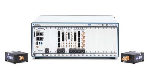 The NI mmWave Transceiver System with VDI radio heads (Photo: Business Wire)