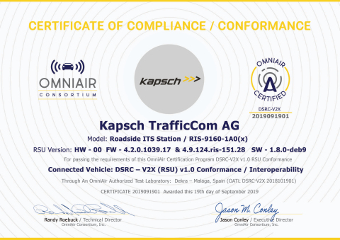 OmniAir Certification (Photo: Business Wire)