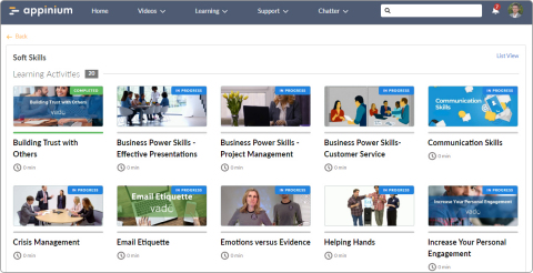 OpenSesame elearning natively in Salesforce Community Cloud leveraging Appinium Lightning Components (Graphic: Business Wire)