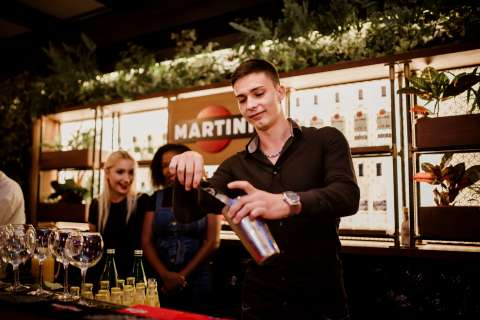 Participant in Bacardi's Shake Your Future program in Italy (Photo: Business Wire)