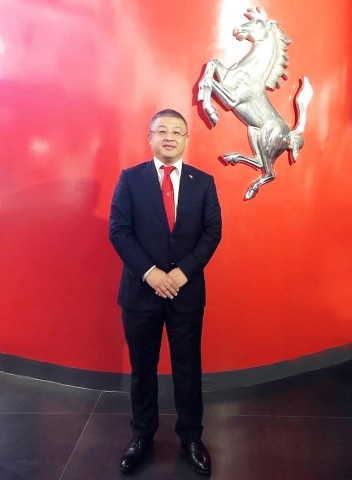 Mr. Linyi Yu, the president of the Beijing Ferrari Club (Photo: Business Wire)