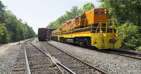 Georgia Central Railway, a 211-mile short line freight railroad operating between Macon and Savannah, has upgraded its entire line to handle 286,000-lb. railcar loadings, matching the capacity of connecting national railroads. (Photo: Business Wire)