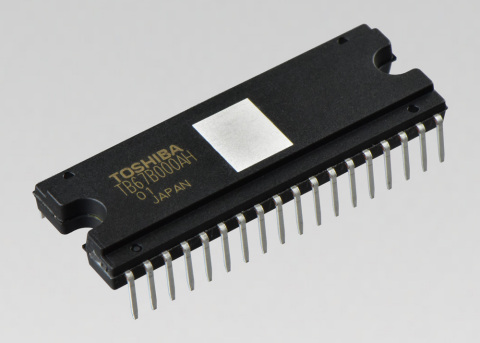 Toshiba TB67B000AHG three-phase brushless motor driver. (Photo: Business Wire)