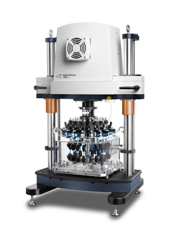 The new TA Instruments MSF16 Multi-Specimen Fatigue Instrument extends the capability of accelerated cyclic testing by loading 16 specimens simultaneously, rapidly delivering insights into the failure limits of materials, components and products under repeated loading. (Photo: Business Wire)