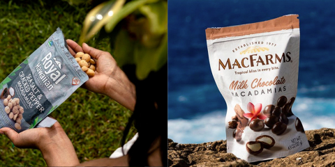 Royal Hawaiian Orchards and MacFarms macadamias make great snacks for on-the-go (Photo: Business Wire)