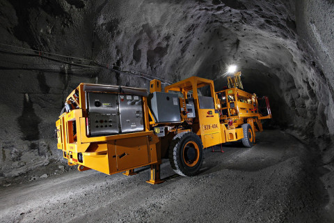 Electric underground mining vehicle at Borden. (Photo: Business Wire)