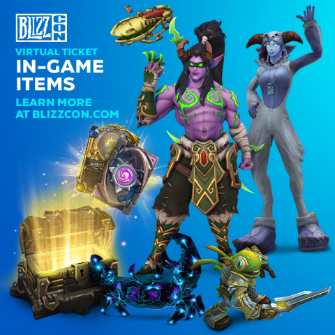 The BlizzCon Virtual Ticket comes with an array of in-game extras to commemorate the occasion. (Graphic: Business Wire)