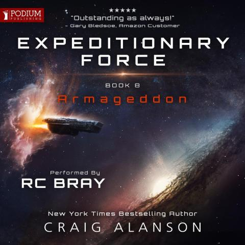 Armageddon (Expeditionary Force, book 8) will be available November 5, 2019 (available for pre-order now at https://www.audible.com/pd/Armageddon-Audiobook/1774241285) (Graphic: Business Wire)