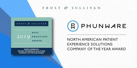 Frost & Sullivan Awards Phunware Company of the Year for Innovation and Excellence with Its Patient Experience Solution. https://go.phunware.com/company-of-the-year-report (Graphic: Business Wire)
