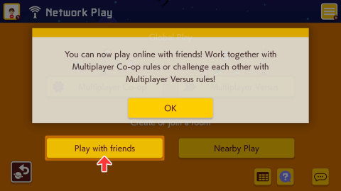 After downloading the free Version 1.1.0 update in the Super Mario Maker 2 game, you'll now have the ability to play co-op and versus multiplayer with people on your Nintendo Switch friends list. (Graphic: Business Wire)