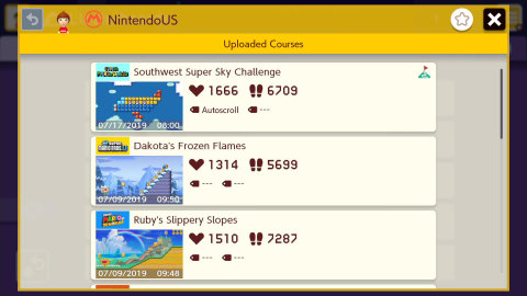 In addition to this multiplayer update, the free software update also adds a list of Official Makers in the Leaderboards section. Here, you'll find new courses made by Official Makers, as well as ones created for collaborations or special events, like the courses played in last summer's Super Mario Maker 2 Invitational 2019. (Graphic: Business Wire)