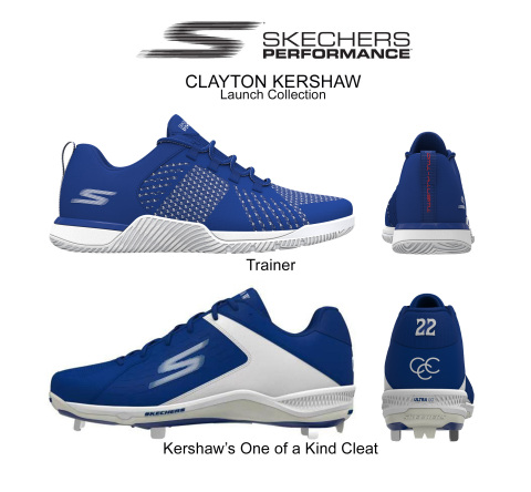 Kershaw is working closely with the Skechers design team on the development of a personalized baseball cleat, a new trainer, and several other styles. (Photo: Business Wire)