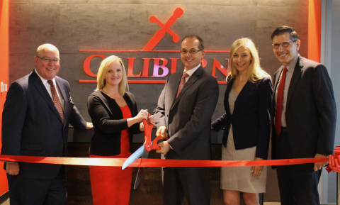 Photo caption: (L-R) Jim Van Dusen, Julie Osterland, Andy Reape, Anne Peterson, and C.D. Moore cut the ribbon on Calburn's new office in Atlanta, Ga. (Photo: Business Wire)