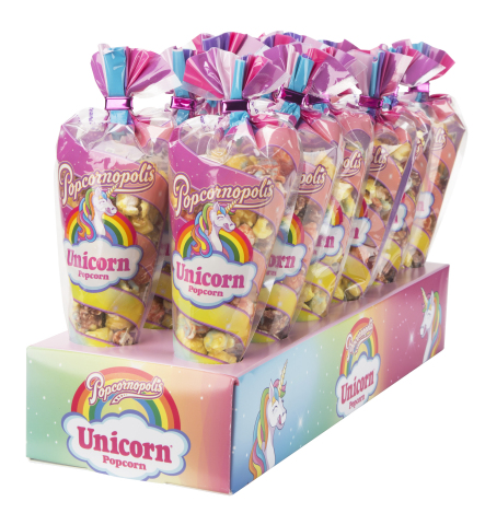 Made with natural flavors and colors, Unicorn Popcorn® is not only magically scrumptious, it is also certified gluten-free and made with non-GMO American grown corn. (Photo: Business Wire)