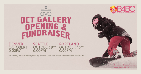 B4BC Hosts Global Auction and Gallery Fundraisers with evo and Globe to Benefit 'Chasing Sunshine Survivor Retreats' for Young Women (Graphic: Business Wire)