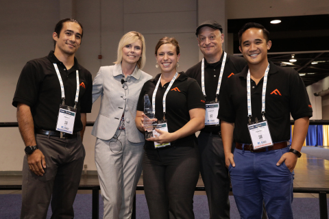 The Fortify team accepts the ACE award at CAMX (Image courtesy of CAMX)