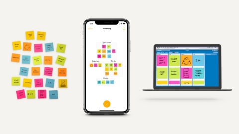The Post-it App and Trello integration transforms Post-it Notes into digital cards on Trello to move projects from ideation to action (Photo: Business Wire)