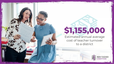 New Teacher Center report finds that by redirecting existing spend on teacher development, school districts can reduce teacher attrition and its impact on students and communities. | http://bit.ly/NTCCostSavings (Photo: Business Wire)