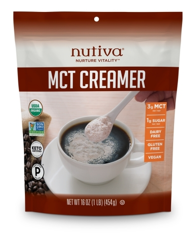 Nutiva's Organic MCT Creamer is a powdered, plant-based creamer packed with the benefits of medium-chain triglycerides (MCTs) from coconut oil, which are known to provide fast-acting, clean energy, burn fat and enhance mental clarity. (Photo: Business Wire)