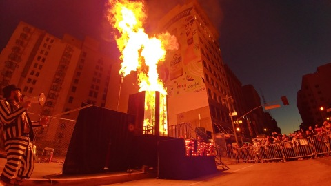 Dunk Tank Flambe, by Two Bit Circus—The hottest dunk tank around. (Photo: Business Wire)