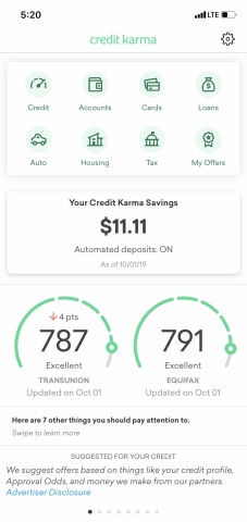 Savings Homescreen (Graphic: Business Wire)